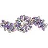 Crystal Motifs Fancy Swirl 10.5x4cm Vitrail Purple Aurora Borealis/gunmetal